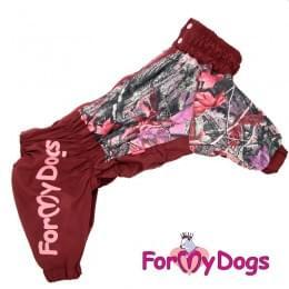 Дождевик Красные Листья весенне-осенний непромокаемый для собак