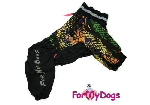 Дождевик черный Соты для мальчиков весенне-осенний непромокаемый для собак породы мопс, французский бульдог, бигль, джек рассел, кокер спаниэль, фокстерьер, цвергшнауцер, шарпей, пудель, амстафф, бультерьер, лабрадор