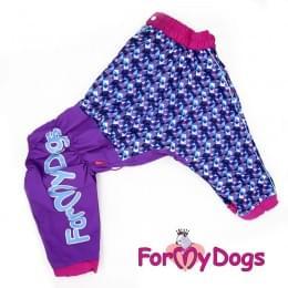 Дождевик Синяя Мозаика весенне-осенний непромокаемый для собак