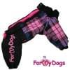 Дождевик черно/розовый в клетку для девочек весенне-осенний непромокаемый для собак породы мопс, французский бульдог, бигль, джек рассел, кокер спаниэль, фокстерьер, цвергшнауцер, шарпей, пудель, амстафф, бультерьер, лабрадор