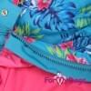 Дождевик Цветы голубой для девочек весенне-осенний непромокаемый для собак породы мопс, французский бульдог, бигль, джек рассел, кокер спаниэль, фокстерьер, цвергшнауцер, шарпей, пудель, амстафф, бультерьер, лабрадор