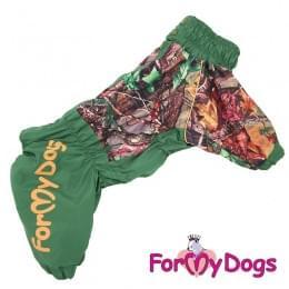 Дождевик Листья весенне-осенний непромокаемый для собак