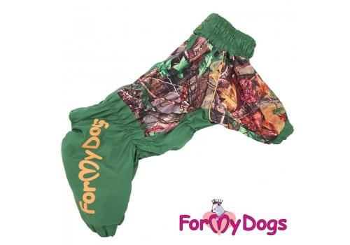 Дождевик Листья весенне-осенний непромокаемый для собак породы мопс, французский бульдог, бигль, вест хайленд терьер, джек рассел, кокер спаниэль, фокстерьер, цвергшнауцер, шарпей, шотландский терьер, пудель, амстафф, бультерьер, лабрадор, ретривер