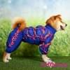 Дождевик синий для девочек весенне-осенний непромокаемый для собак породы мопс, французский бульдог, бигль, джек рассел, кокер спаниэль, фокстерьер, цвергшнауцер, шарпей, пудель, амстафф, бультерьер, лабрадор