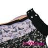 Дождевик черный Бабочки для девочек весенне-осенний непромокаемый для собак породы мопс, французский бульдог, бигль, джек рассел, кокер спаниэль, фокстерьер, цвергшнауцер, шарпей, пудель, амстафф, бультерьер, лабрадор