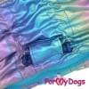 Дождевик мультиколор металлик для мальчиков весенне-осенний непромокаемый для собак породы мопс, французский бульдог, бигль, джек рассел, кокер спаниэль, фокстерьер, цвергшнауцер, шарпей, пудель, амстафф, бультерьер, лабрадор