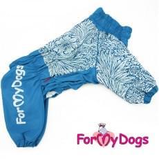 Комбинезон синий цветок мопс для мальчиков