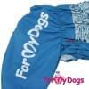 Комбинезон синий цветок мопс для мальчиков теплый для собак породы мопс, французский бульдог