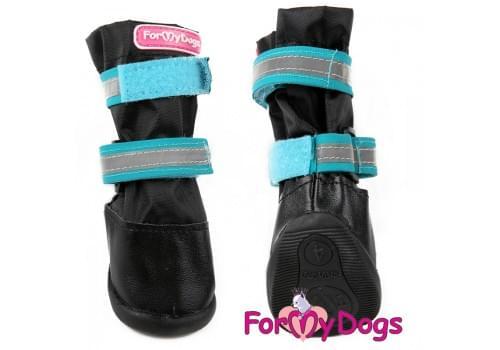Ботиночки Черно-синие для собак средних и больших пород