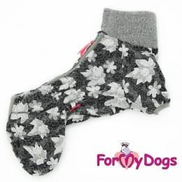 Комбинезон Листики утепленный для собак