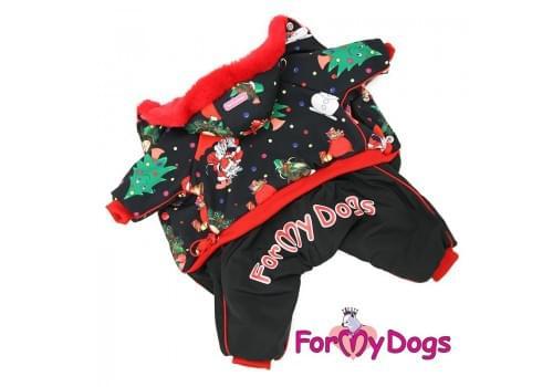 Комбинезон Новый год зимний для собак породы йоркширский терьер, мальтезе, чихуахуа, шпиц, ши-тцу, папильон, пекинес, той пудель, пинчер, фокстерьер, цвергшнауцер, кокер спаниель