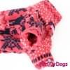 Комбинезон Розовые олени утепленный для собак породы йоркширский терьер, мальтезе, чихуахуа, шпиц, ши-тцу, папильон, пекинес, той пудель, пинчер, фокстерьер, цвергшнауцер, кокер спаниель