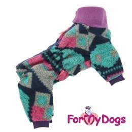 Комбинезон Фиолетовый утепленный для собак
