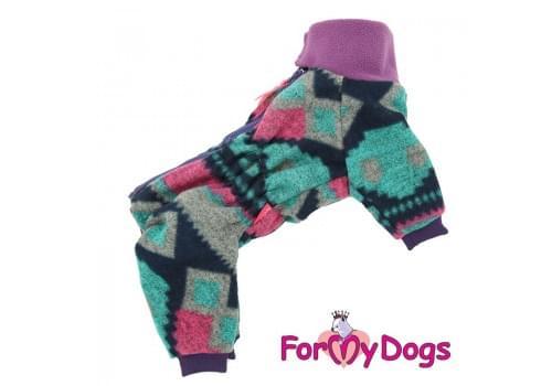 Комбинезон Фиолетовый утепленный для собак породы йоркширский терьер, мальтезе, чихуахуа, шпиц, ши-тцу, папильон, пекинес, той пудель, пинчер, фокстерьер, цвергшнауцер, кокер спаниель