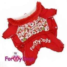 Комбинезон Санта теплый для собак