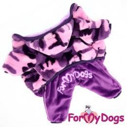 Комбинезон Фиолетовая шубка теплый для собак