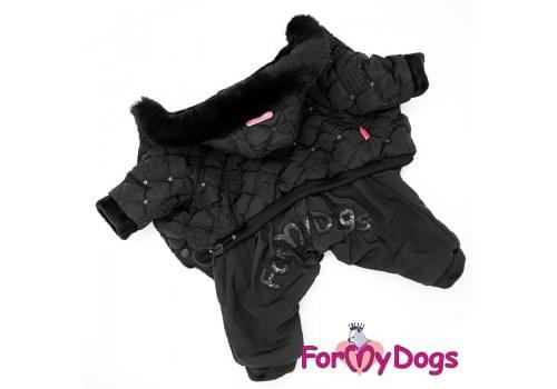 Комбинезон Черныш зимний для собак породы йоркширский терьер, мальтезе, чихуахуа, шпиц, ши-тцу, папильон, пекинес, той пудель, пинчер, фокстерьер, цвергшнауцер, кокер спаниель