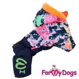 Комбинезон Маленькие краски зимний для собак