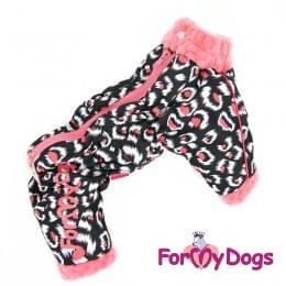 Комбинезон Розовая пантера утепленный для собак