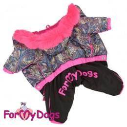 Комбинезон Розовые узоры теплый для собак