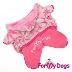 Комбинезон Розовая шубка теплый для собак