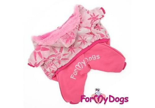 Комбинезон Розовая шубка теплый для собак породы йоркширский терьер, мальтезе, чихуахуа, шпиц, ши-тцу, папильон, пекинес, той пудель, пинчер, фокстерьер, цвергшнауцер, кокер спаниель