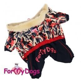 Комбинезон Бежевый камуфляж теплый для собак