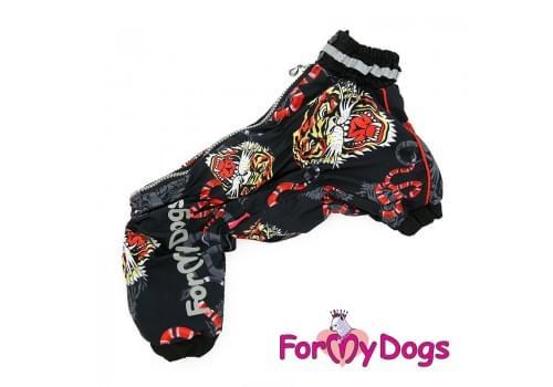 Дождевик Тигр непромокаемый для собак породы йоркширский терьер, мальтезе, чихуахуа, шпиц, ши-тцу, папильон, пекинес, той пудель, пинчер, фокстерьер, цвергшнауцер, кокер спаниель