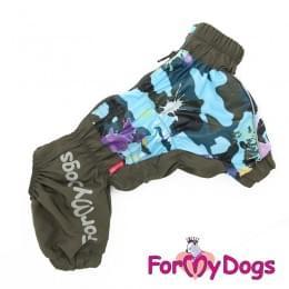Дождевик Хаки Клякса непромокаемый для собак