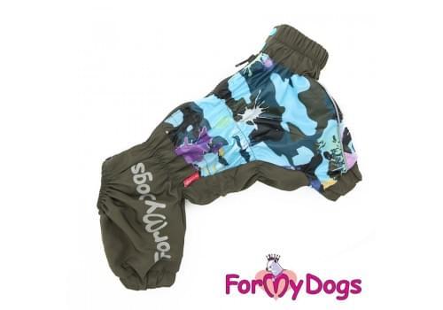 Дождевик Хаки Клякса непромокаемый для собак породы йоркширский терьер, мальтезе, чихуахуа, шпиц, ши-тцу, папильон, пекинес, той пудель, пинчер, фокстерьер, цвергшнауцер, кокер спаниель
