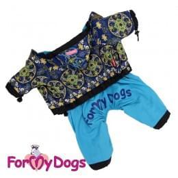 Дождевик Синий узор непромокаемый для собак