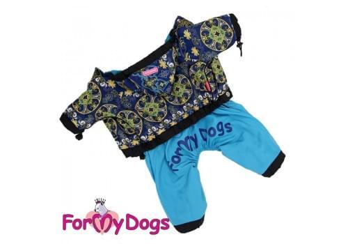Дождевик Синий узор непромокаемый для собак породы йоркширский терьер, мальтезе, чихуахуа, шпиц, ши-тцу, папильон, пекинес, той пудель, пинчер, фокстерьер, цвергшнауцер, кокер спаниель