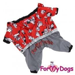 Дождевик 101 далматинец непромокаемый для собак