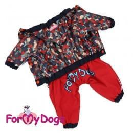 Дождевик Красный камуфляж непромокаемый для собак