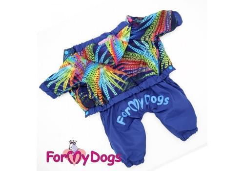 Дождевик Павлин непромокаемый для собак породы йоркширский терьер, мальтезе, чихуахуа, шпиц, ши-тцу, папильон, пекинес, той пудель, пинчер, фокстерьер, цвергшнауцер, кокер спаниель