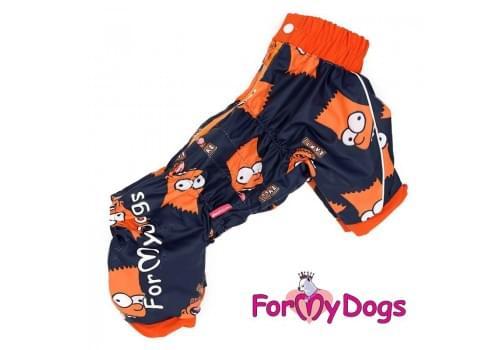 Дождевик Симпсоны непромокаемый для собак породы йоркширский терьер, мальтезе, чихуахуа, шпиц, ши-тцу, папильон, пекинес, той пудель, пинчер, фокстерьер, цвергшнауцер, кокер спаниель