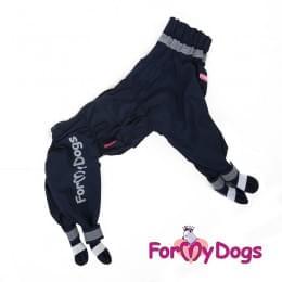 Дождевик Синий с ботиночками непромокаемый для собак