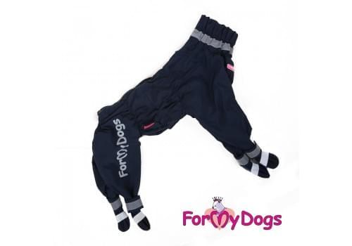 Дождевик Синий с ботиночками непромокаемый для собак породы йоркширский терьер, мальтезе, чихуахуа, шпиц, ши-тцу, папильон, пекинес, той пудель, пинчер, фокстерьер, цвергшнауцер, кокер спаниель
