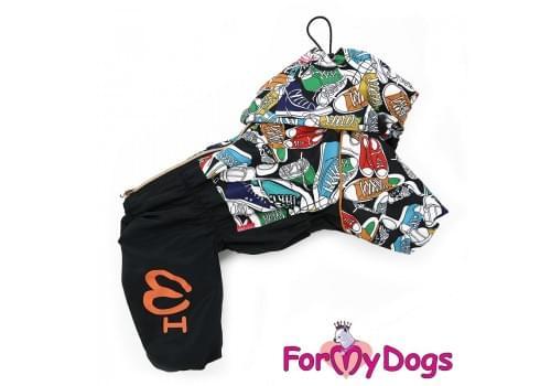 Дождевик Кеды непромокаемый для собак породы йоркширский терьер, мальтезе, чихуахуа, шпиц, ши-тцу, папильон, пекинес, той пудель, пинчер, фокстерьер, цвергшнауцер, кокер спаниель