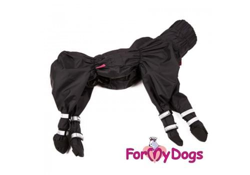 Дождевик Черный с ботиночками непромокаемый для собак породы йоркширский терьер, мальтезе, чихуахуа, шпиц, ши-тцу, папильон, пекинес, той пудель, пинчер, фокстерьер, цвергшнауцер, кокер спаниель