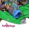 Дождевик Мультиколор непромокаемый для собак породы йоркширский терьер, мальтезе, чихуахуа, шпиц, ши-тцу, папильон, пекинес, той пудель, пинчер, фокстерьер, цвергшнауцер, кокер спаниель