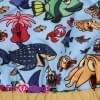 Дождевик Морская фантазия непромокаемый для собак породы йоркширский терьер, мальтезе, чихуахуа, шпиц, ши-тцу, папильон, пекинес, той пудель, пинчер, фокстерьер, цвергшнауцер, кокер спаниель