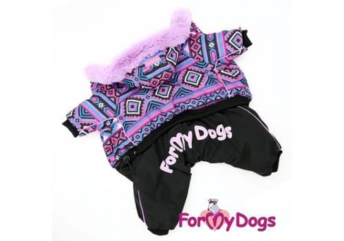 Комбинезон Фиолетик зимний для собак породы йоркширский терьер, мальтезе, чихуахуа, шпиц, ши-тцу, папильон, пекинес, той пудель, пинчер, фокстерьер, цвергшнауцер, кокер спаниель