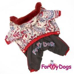 Комбинезон Маленькие пиончики зимний для собак