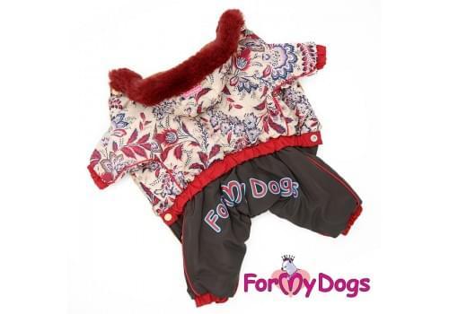Комбинезон Маленькие пиончики зимний для собак породы йоркширский терьер, мальтезе, чихуахуа, шпиц, ши-тцу, папильон, пекинес, той пудель, пинчер, фокстерьер, цвергшнауцер, кокер спаниель
