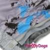 Комбинезон Серая клякса утепленный для собак породы мопс, французский бульдог, бигль, вест хайленд терьер, джек рассел, кокер спаниэль, фокстерьер, цвергшнауцер, шарпей, шотландский терьер, пудель, амстафф, бультерьер, лабрадор, ретривер