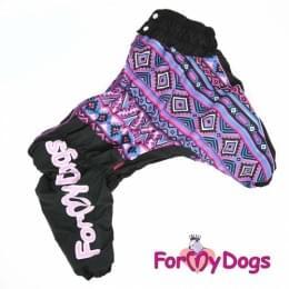 Комбинезон Розовая мозаика утепленный для собак