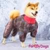 Комбинезон LuckyPiksel теплый для собак породы мопс, французский бульдог, бигль, вест хайленд терьер, джек рассел, кокер спаниэль, фокстерьер, цвергшнауцер, шарпей, шотландский терьер, пудель, амстафф, бультерьер, лабрадор, ретривер