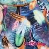 Куртка Оранжевые перышки зимняя для собак породы мопс, французский бульдог, бигль, вест хайленд терьер, джек рассел, кокер спаниэль, фокстерьер, цвергшнауцер, шарпей, шотландский терьер, пудель, амстафф, бультерьер, лабрадор, ретривер