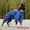 Комбинезон синий для мальчиков теплый для собак породы мопс, французский бульдог, бигль, вест хайленд терьер, джек рассел, кокер спаниэль, фокстерьер, цвергшнауцер, шарпей, амстафф, бультерьер, лабрадор, ретривер